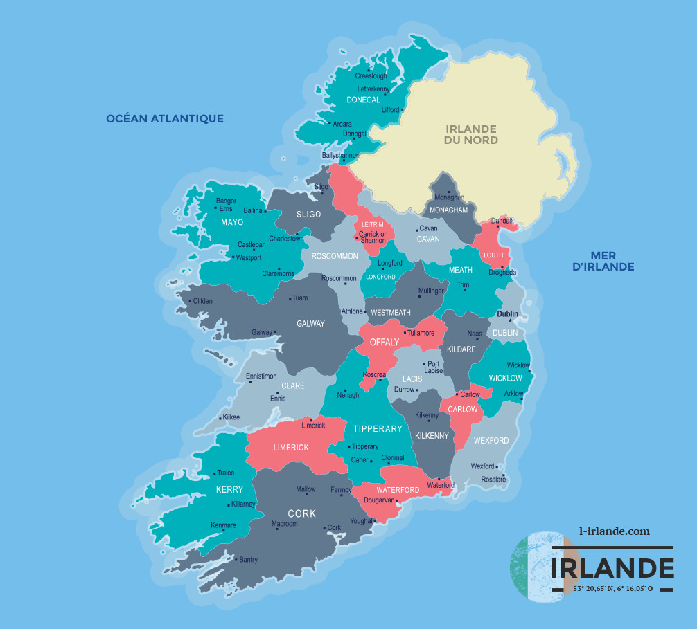 Cartes Irlande